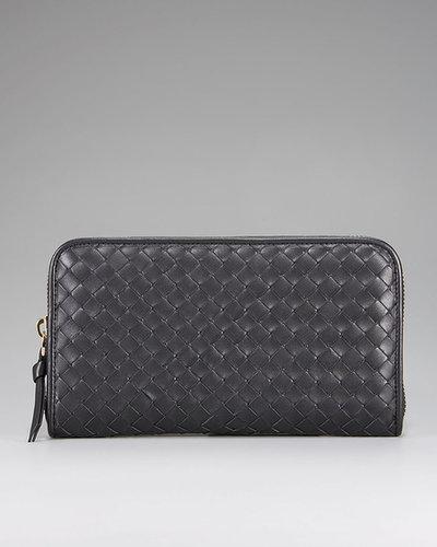 Bottega Veneta Woven Zip Wallet