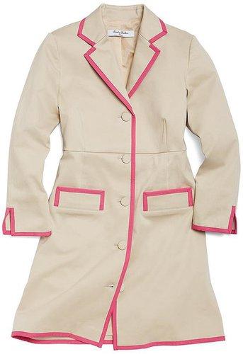 Stretch Sateen Long Coat