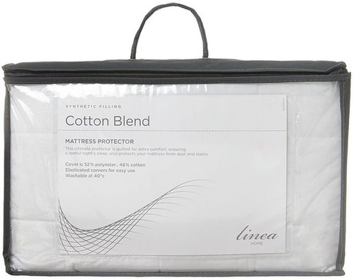 Linea Cotton blend quilted mattress protector king size
