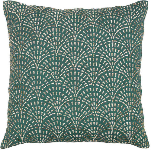 Day Birger Et Mikkelsen - Temple Tiles Cushion Cover - Jade - 50x50cm