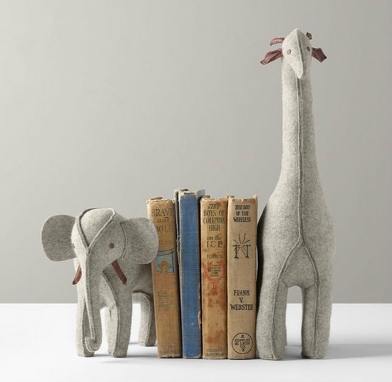 Rh Baby & Child Wool Felt Animal Bookends
