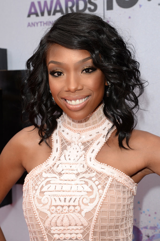 Brandy Norwood Wore Her Graduated Bob In Curls With A