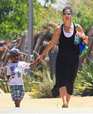 Sandra and Louis Bullock enjoyed a day at the Natural History Museum in LA.