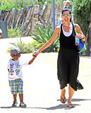 Sandra and Louis Bullock spent a day together in LA.