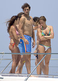Rafael Nadal hung out with a group of bikini-wearing women in Ibiza in June 2013.