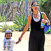 Sandra Bullock and Son Louis at the Natural History Museum