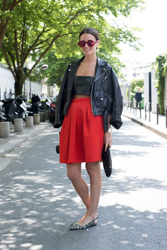 The most approachable way to wear a crop top? With a skirt that raises to your natural waist.
