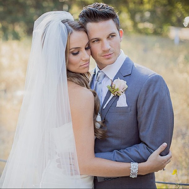 Matt Lanter's new wife, Angela Lanter, shared this sweet photo from their June nuptials. Source: Instagram user angelalanter