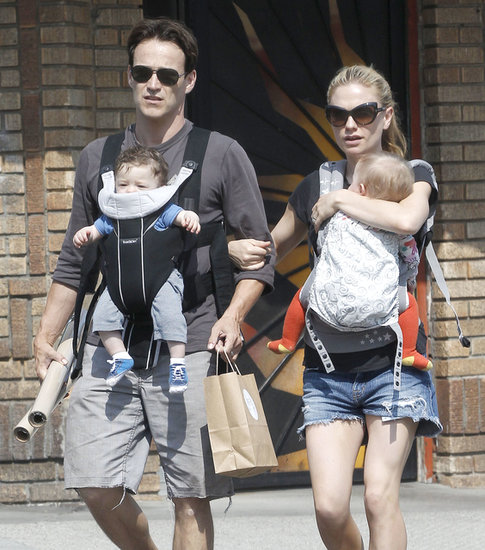 Anna Paquin and Stephen Moyer took their twins, Charlie and Poppy, out to lunch in LA.