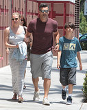Eddie Cibrian went to the mall in LA with LeAnn Rimes and his son Mason on Saturday.