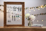 DIY: Frame Earring Holder