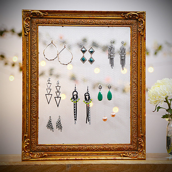 Make This Adorable Vintage Frame Earring Holder