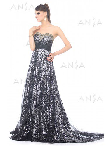 A Line Silver Sweetheart Prom Dress F22398