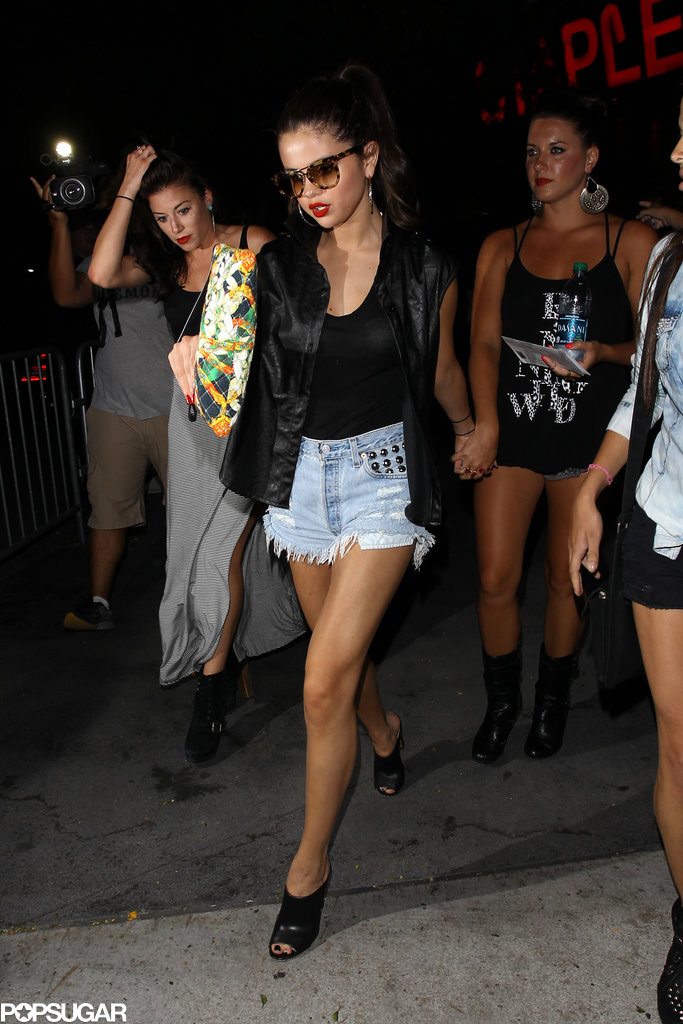 Selena Gomez and her girlfriends made their way to Beyoncé Knowles's