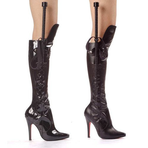 Ellie Shoes E-511-Sadie, 5 Inch Heel Knee Boot With Whip-Satin-Boutique.com