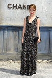 Rose Byrne picked a loose, floor-length gown for the Chanel show.