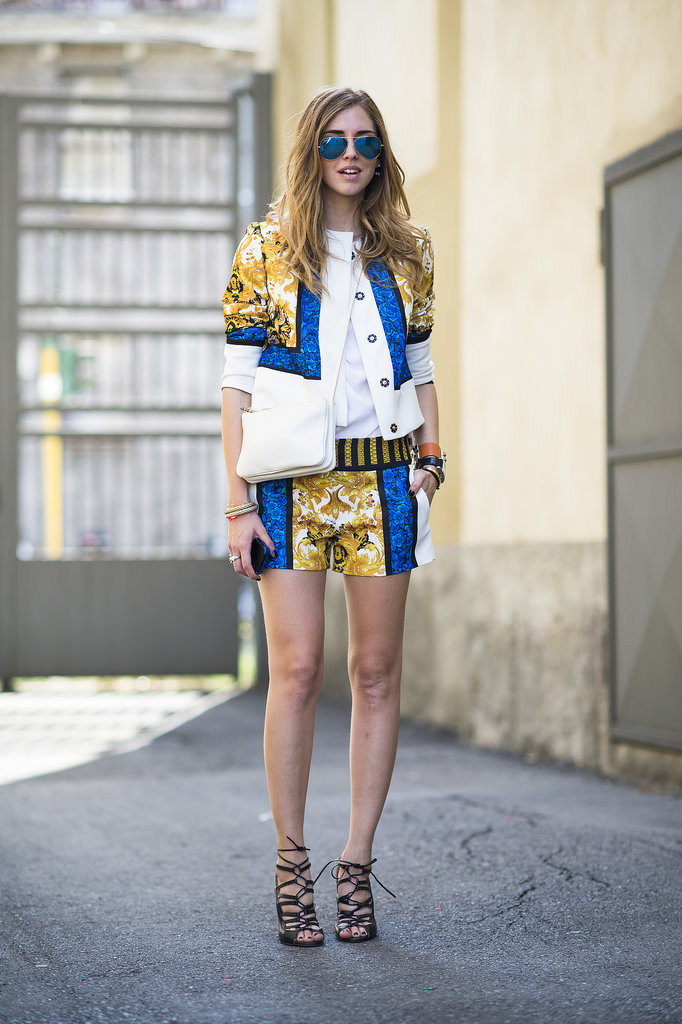 A shorts suit — that didn't short on personality — turned heads outside the shows. Source: Le 21ème | Adam Katz Sinding