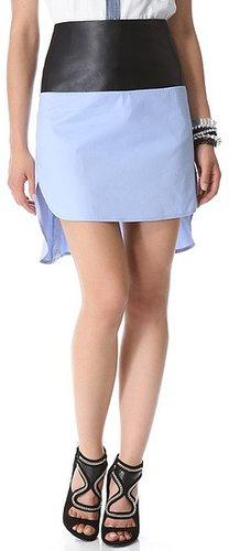 Robert rodriguez Colorblock Shirttail Skirt