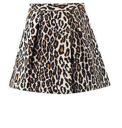 Sea Leopard-print cotton mini skirt
