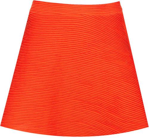 Orange Ottoman Skater Skirt