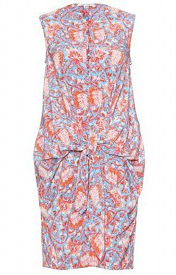 CARVEN Self-Tie Floral Dress