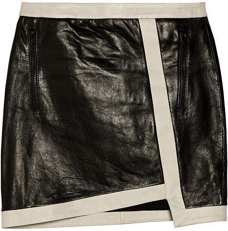 Helmut Lang Evolution leather mini skirt
