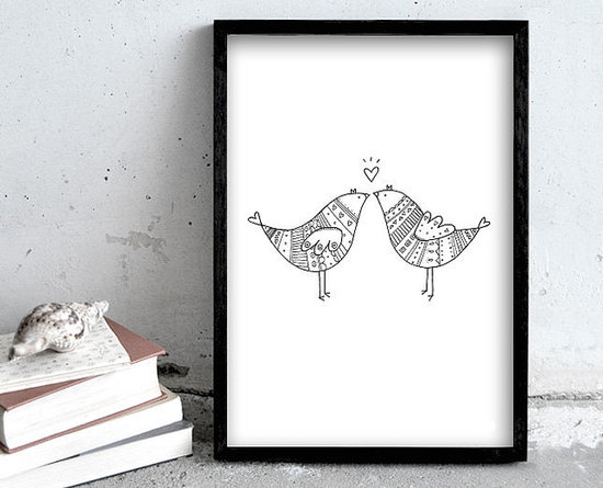 Lovebirds kiss ($23)