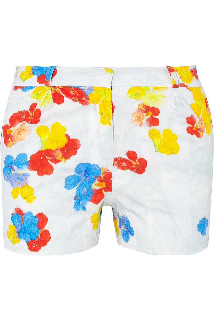 Pippa Pansy-Print Stretch-Twill Shorts ($298, originally $745)