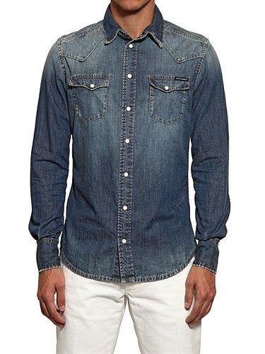 Dolce & Gabbana - Washed Cotton Denim Shirt
