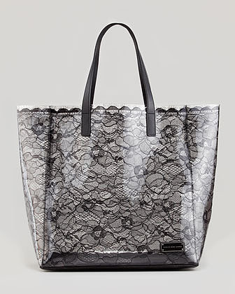 MARC by Marc Jacobs Medium Coated-Lace Tote Bag, Black