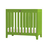 A great solution for small spaces, the Alma Mini Crib ($340) comes in mod shades of green, orange, gray, white, and dark brown.