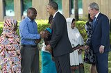 In July, President Obama and former President George W. Bush greeted the family members of victims of the 1998 US Embassy bombing in Dar es Salaam, Tanzania.