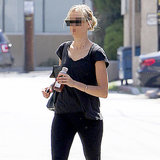 Which Blonde Celebrity Was Seen Leaving Tracy Anderson?
