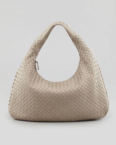 Bottega Veneta Medium Veneta Hobo Bag, Light Gray