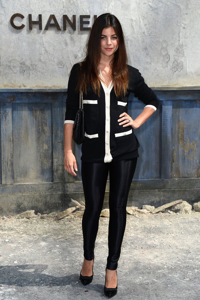 Julia Restoin-Roitfeld wore black and white to the Chanel show on Tuesday.