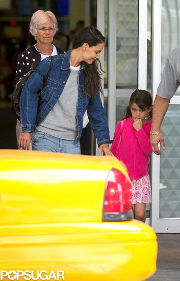 Katie and Suri Are Back in the Big Apple