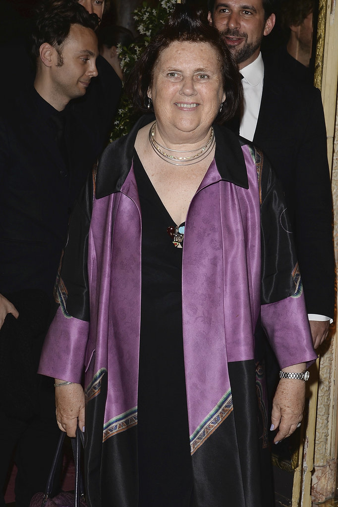 Suzy Menkes at the unveiling of the Bulgari Diva fine jewelry collection in Paris.  Photo courtesy of Bulgari