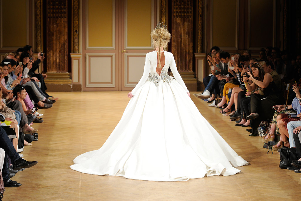 We're still feeling breathless over this shot from the Tony Yaacoub Haute Couture Fall 2013 runway.