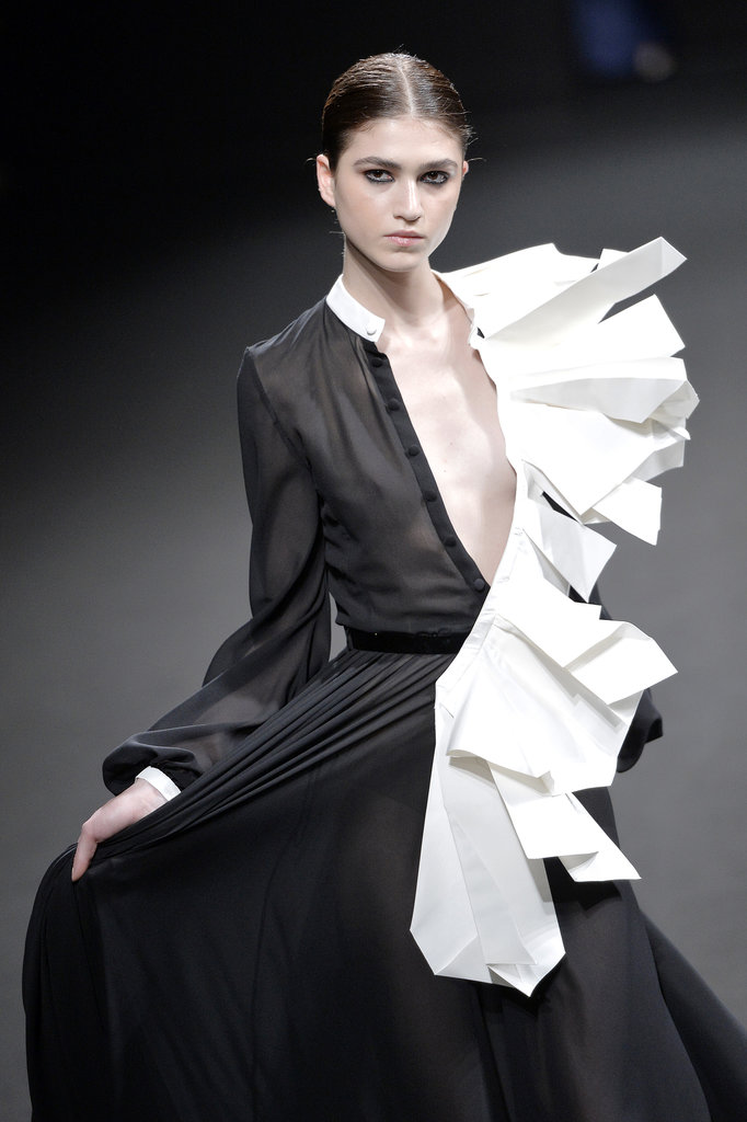 Elegantly folded pieces from Stéphane Rolland Haute Couture Fall 2013 grabbed our attention.