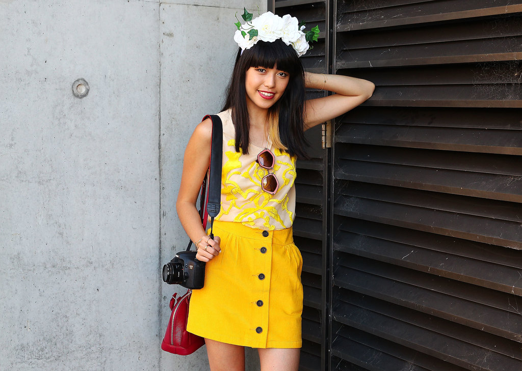 A flower-child headpiece is welcome at any music festival you may attend this season.