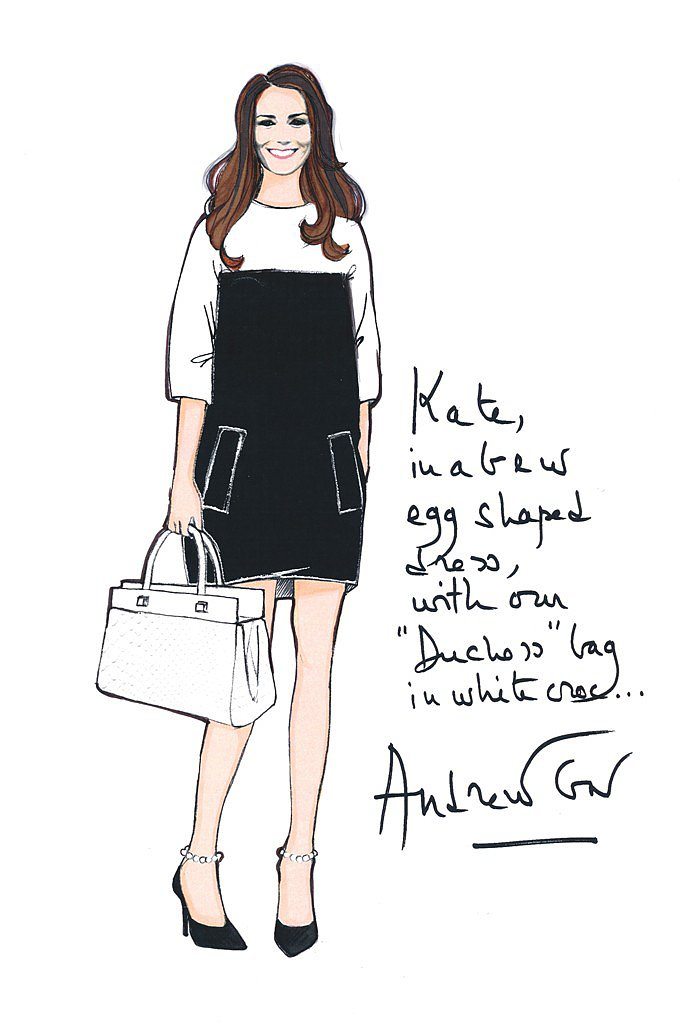In the wake of Kate's pregnancy announcement, Karl Lagerfeld, Nina Ricci, Vera Wang, and Donna Karan were among several designers who submitted exclusive sketches of custom maternity clothes for Kate Middleton.  Source: WWD