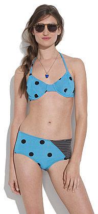 Giejo&TM triangle tie bikini top in polka dot