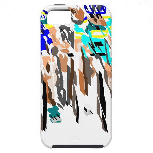 The fun abstract print of this iPhone 5 case ($60) perfectly captures the rush of the competition.