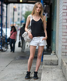 Don't ditch your favorite cutoffs and tank — just upgrade them with a pair of high-tops for Summer in the city. Source: Le 21ème | Adam Katz Sinding