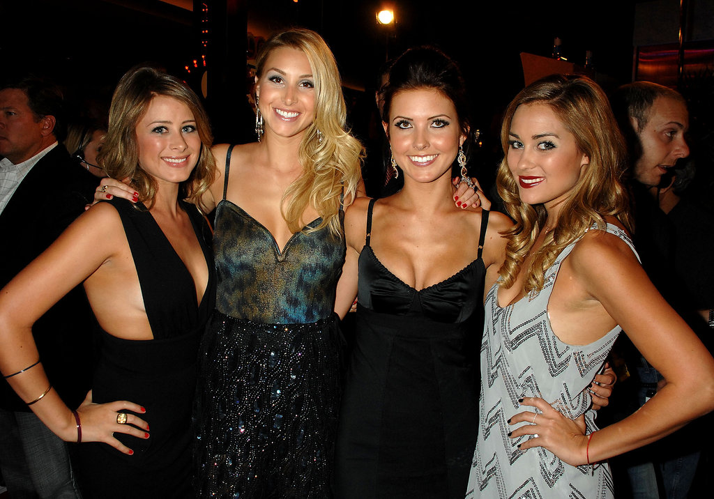 Lo Bosworth, Whitney Port, Audrina Patridge, and Lauren Conrad got together for a photo op at the 2007 MTV VMAs.