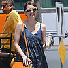 Emma Roberts Wearing Denim Romper