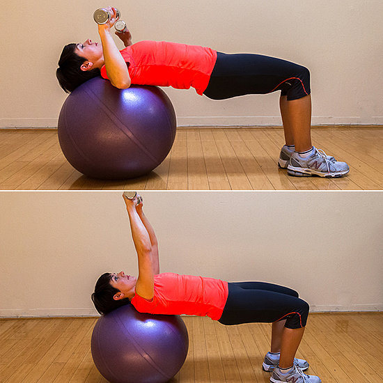 Stability Ball Instead Of Bench: Basic Exercises To Tone Your Arms