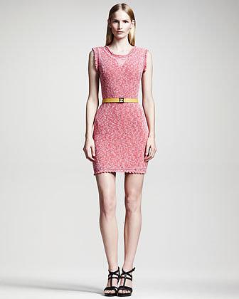 Fendi Metallic Knit Dress