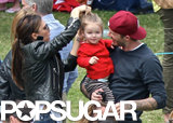 David and Victoria Beckham brought their daughter, Harper, to watch her brother Cruz compete in his school's sports day.