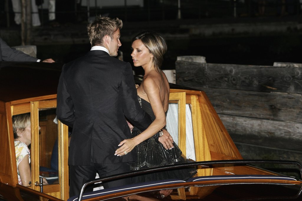David and Victoria got affectionate at the Venice Film Festival in Sept. 2006.
